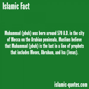 About Prophet Muhammad(peace be upon him)