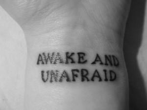awake, lyrics, mcrmy, my chemical romance, tattoo, unafraid