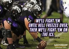 One of the greates NCAA football quote ever. A salute for you coach ...
