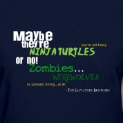 Vampire Diaries Season Two Quotes Stefan And Damon Salvatore T-Shirts