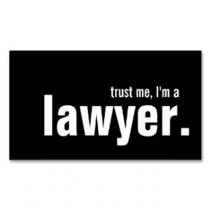 Humorous Lawyer Business Card Templates