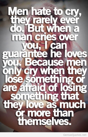 Men hate to cry image quote
