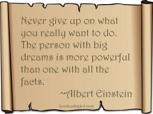 Albert Einstein Quote on Determination and Dreams