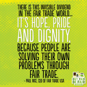 ... around the world through #FairTrade. #inspirationalquote #quote