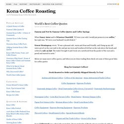 World's Best Coffee Quotes