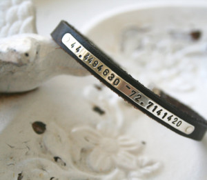 personalized sterling silver longitude latitude, quote or special date ...
