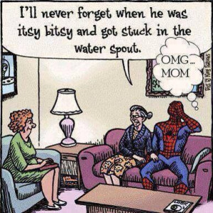 Embarrassing Spider-Man ! Haha!
