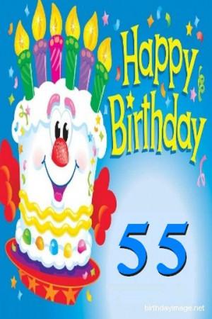 55th birthday wishes