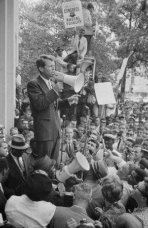 Robert F. Kennedy speaking in Washington, D.C., June 14, 1963. Photo ...