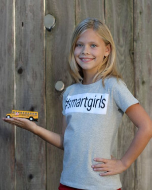 Tween Girls Tshirt for Smart Girls quote hashtag by FroskGirls