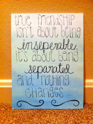 Friendship/Sisterhood quote ombre canvas by KMCreations11 on Etsy, $17 ...