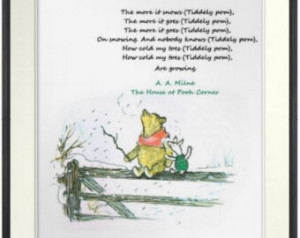 ... ), Winnie-the-Pooh quotes, White Christmas, A. A. Milne , Snow Quote