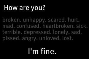 Im Fine I'm fine. by wolvesrock15