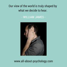 William James quote. #psychology