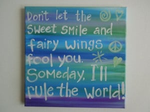 Canvas Quote. SALE. Original Girls Room Decor. Girls room painting. 12 ...