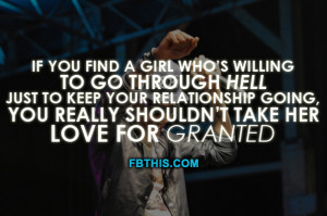 dont take her for granted