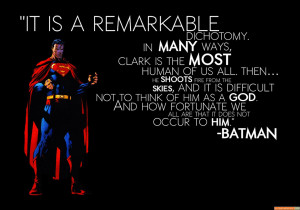 batman quote on superman - batman quote on superman