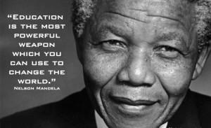 The Famous Nelson Mandela Education Quote