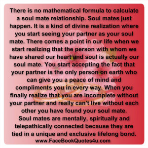 ... soul mate relationship soul mates just happen it is a kind of
