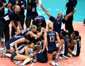 USA Volleyball Ambassadors During CES 2015 VERT and USA Volleyball ...
