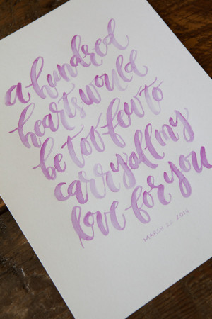 Quotes Written in Calligraphy