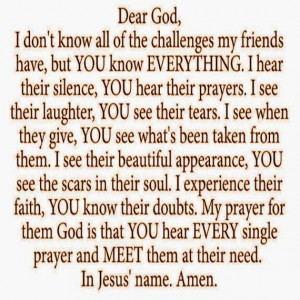 Christian Images, Prayer For a friend,
