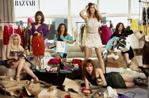 Kristen Wiig, Maya Rudolph, and the rest of the cast of Bridesmaids.