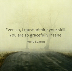 Even so, I must admire your skill. You are so gracefully insane.