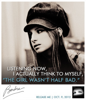 Here's a brand new photo and quote from Barbra's liner notes of her ...