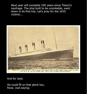 Funny photos funny Titanic Jack Rose plank