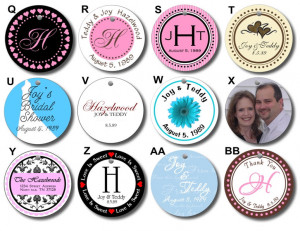 Details about 20 Round Wedding Bridal Shower Favor Gift Hang Tags AA