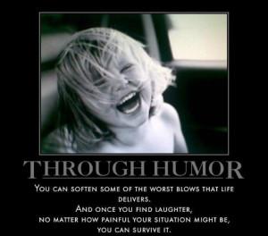 Through Humor..,