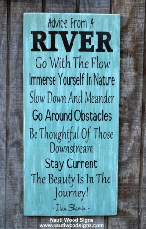 ... Signs - Cabin Plaque - Wooden Housewarming River Gift - Sayings Quotes