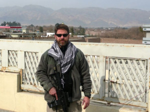 Brad Thor somewhere in the Middle East, doing research for his books.