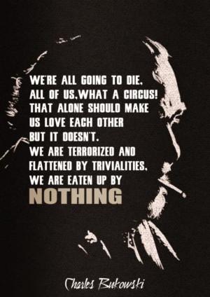 Charles Bukowski Quote on Death