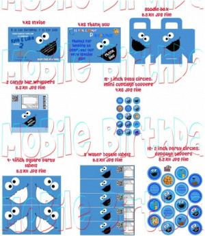 Cookie Monster Birthday Party Quotes