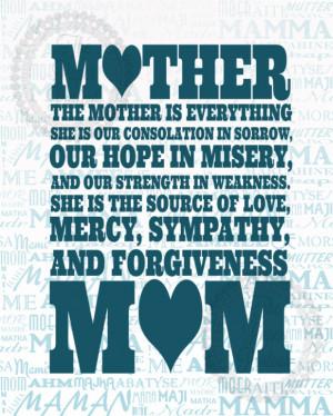 Tribute To Mom Art Print