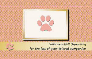 Pet Sympathy Card For Loss