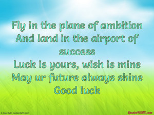 Good luck is a residue