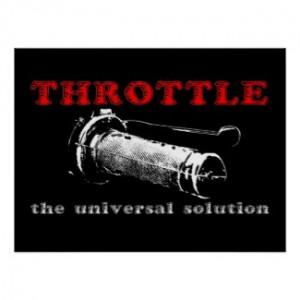 Throttle Solution Dirt Bike Motocross Poster by allanGEE