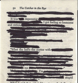 The Catcher in the Rye. This basically sums up the whole book. I ...