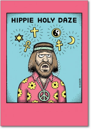Hippie Holy Daze Unique Adult Humor Happy Holidays Greeting Card ...