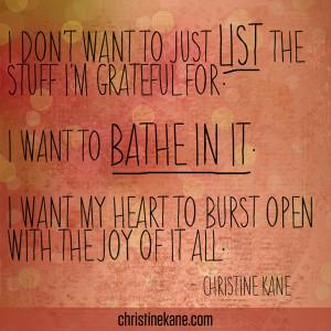 How to Bathe in Gratitude
