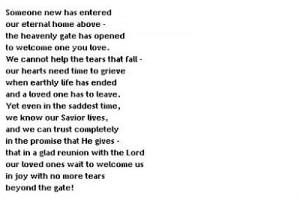 Funeral Poems free, online & printable