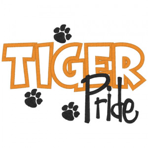 Sayings (2898) Tiger Pride Applique 5x7