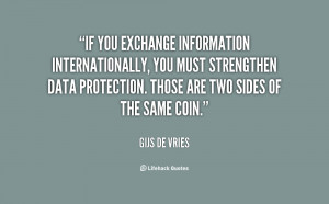 If you exchange information internationally, you must strengthen data ...
