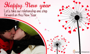Romantic Greeting Cards for New Year