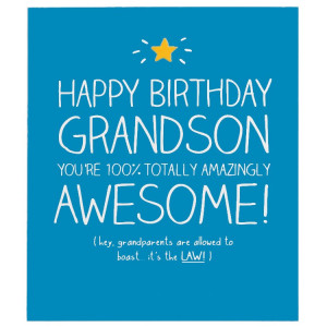 Happy Jackson Grandson 100% Totally Awesome Card