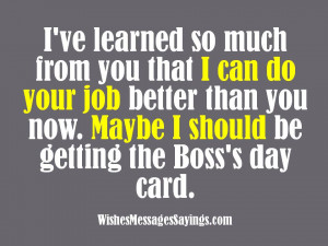 Funny Boss's Day Messages