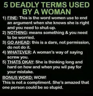 What women really mean